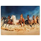 YISUMEI Bedruckte Kuscheldecke Wüste Pferd Decke Flauschig Weich Fleecedecke 150x200 cm