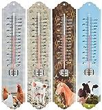 Quirky Garten Thermometer mit Farm Animal Design. Pferd, Ferkel, Huhn oder Kuh