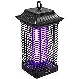 Aerb Elektrischer Insektenvernichter 18W,Insektenfalle Mückenlampe 4000V mit UV-Licht,Keine giftigen Chemikalien,Wirksam zum Reduzieren Fliegender Insekten für Innen Schlafzimmer und Gärten