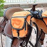 AMAIRS Pferdesatteltasche, Mehrzweckreitausrüstung Westernsatteltasche Wild Riding Outdoor-reisesatteltasche,Orange