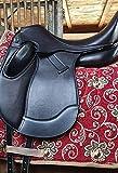 Dressursattel Zeuss doubliertes Leder 17,5 Z Leder weich! Mono Sattel Tysons Pauschen Tiefer Sitz incl. 5 Kopfeisen Kammer anpassbar Kurz Dressur Sattel