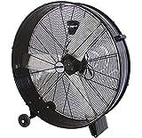 DMS® ITV-90 Industrie Ventilator Trommelventilator Windmaschine, Bodenventilator Hallenlüfter Ø 90- cm (35') Trommelgebläse, Industrieventilator Standventilator, Hallenkühlung 400 Watt, 13800 m³/h