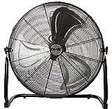 DMS Industrieventilator | Windmaschine | Bodenventilator | Hallenlüfter | Trommelventilator | 3 Geschwindigkeitsstufen | Ø 60cm | 180 Watt | 10000m3/h | Schwarz
